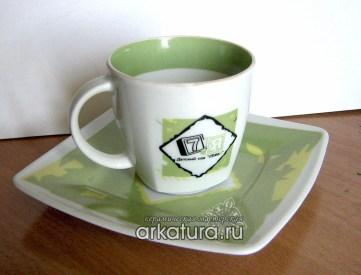 Чашка для чая с фирменным стилем детского сада