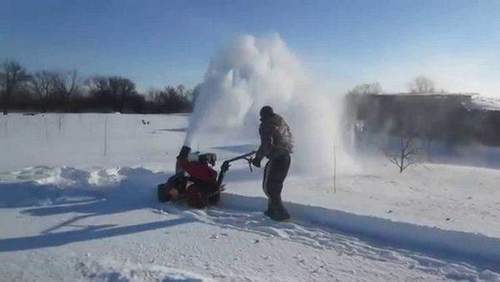 How To Make A Snow Blower From A Large Angle Grinder