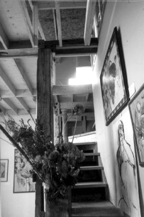 stair flowers