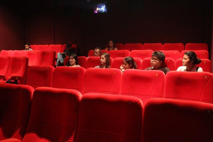 Suasana di bangku penonton ketika filem-filem IC 1 ditayangkan di Kineforum.