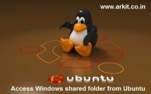 Access Windows Shared folders from Ubuntu