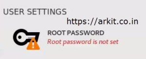 Set Root User Password