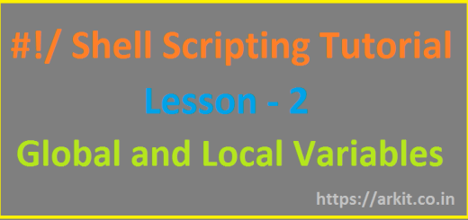 Shell Scripting Tutorial Variables global and Local Variables