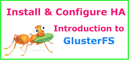 Introduction to Gluster File System Install Configure Gluster HA