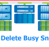 How to Delete busy snapshots