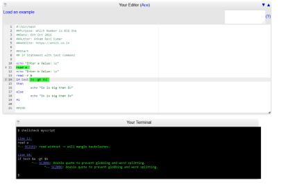 Script Debug results