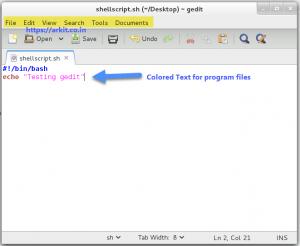 gedit text editor arkit