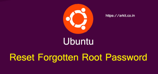 Reset Forgotten Ubuntu Root Password