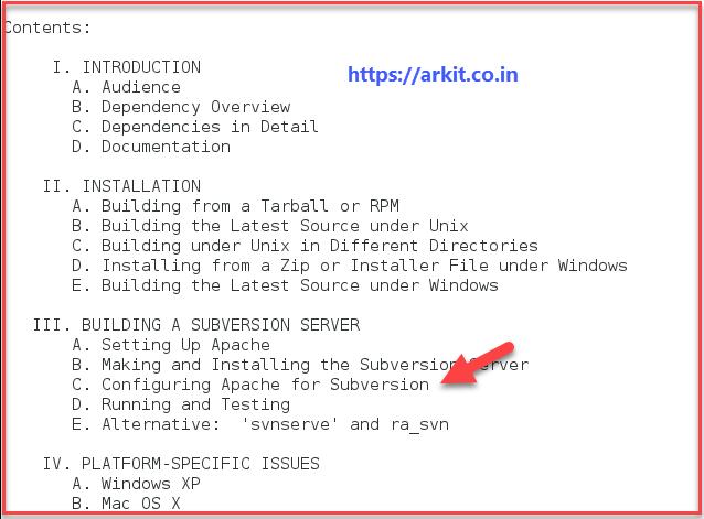 Building Subversion Server configuration