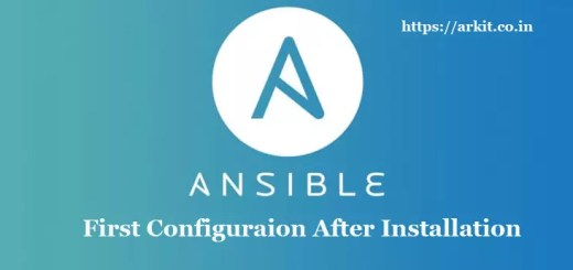 First Configuration Ansible After Installation