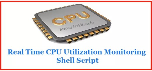 Real Time CPU Utilization Monitoring Shell script