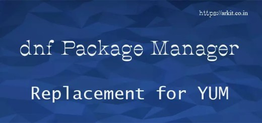dnf package manager