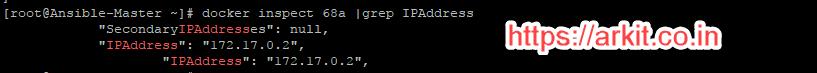 Docker Container IP Address