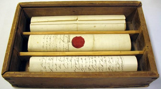 Bykista från Boda med gamla dokument