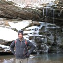 Me in front of Magnolia Falls, Upper Buffalo Wilderness