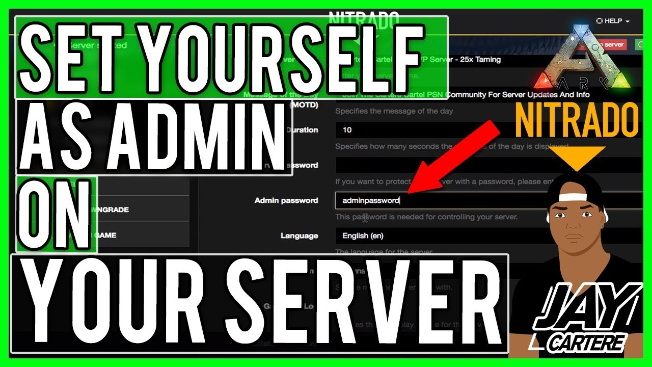 Ark Survival Evolved PS4 Tutorial - How To Set Yourself As Admin Of