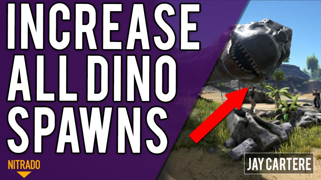 How To Increase ALL Dino Spawns / Spawn Rates On Your ARK PS4 Server - ARK PS4 Server Tutorial
