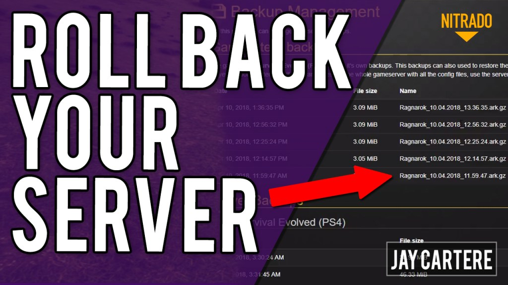 how to restore a server backup