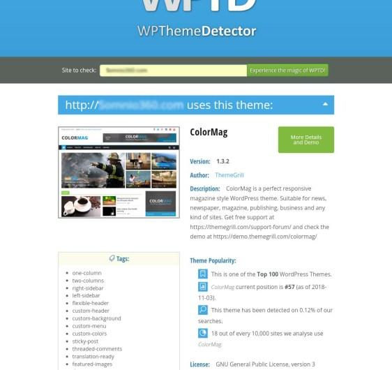 hide wordpress theme_wp-theme detector