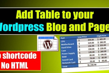 Draw Table in Wordpress Add Table to Your Page and Post