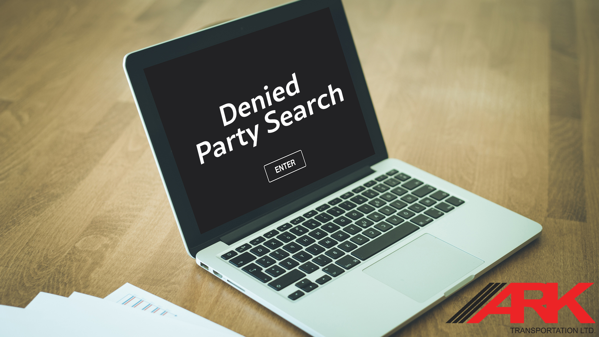 Computer showing Denied Party Screening
