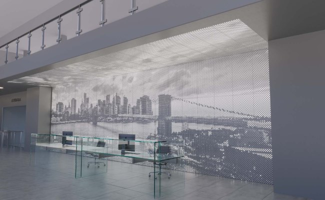 Vapor Graphic Perf Customizable Wall System Panel
