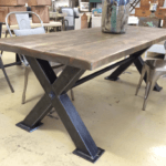 Industrial steel dining table. vintage, box steel industrialtable