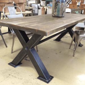 Industrial steel dining table. vintage, box steel industrialtable
