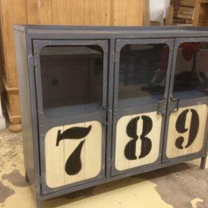 Industrial, metal cabinet, storage