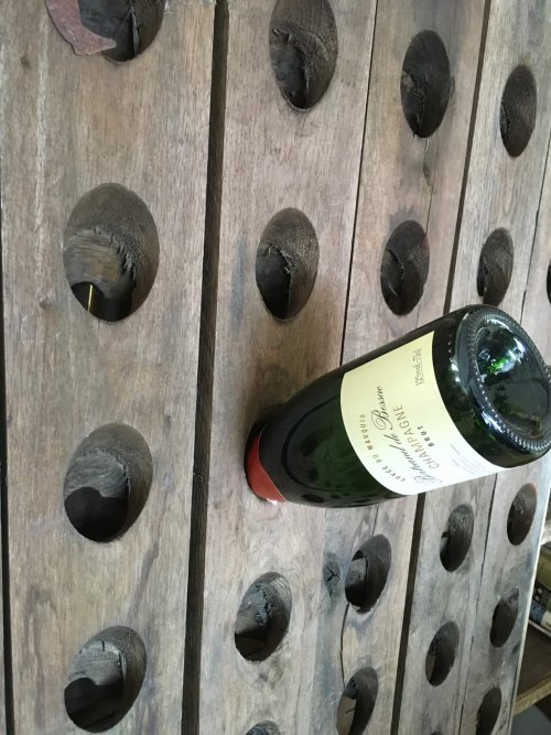 champagne rack wine ravk oak riddling racks French vintage old