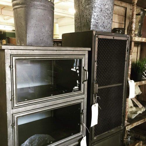 industrial metal vintage style storage cabinets