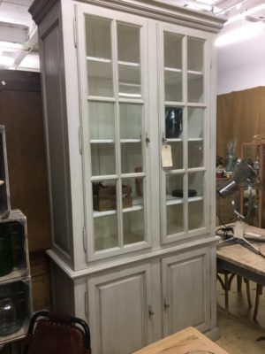 light grey cabinet with detachable storage unit