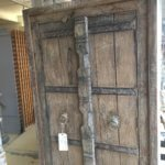 Cabinet with antique doors, original metal fittings. Beautiful vintage style!