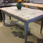 table pine dining painted french style
