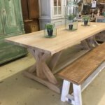 Character solid oak table with Union J style base.