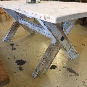 Vintage farmhouse table x leg