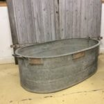metal bath galvanised planter vintage
