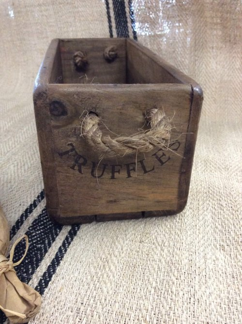 boxes trugs box crate stencilled vintage wooden