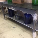 Vintage French painted console table furniture