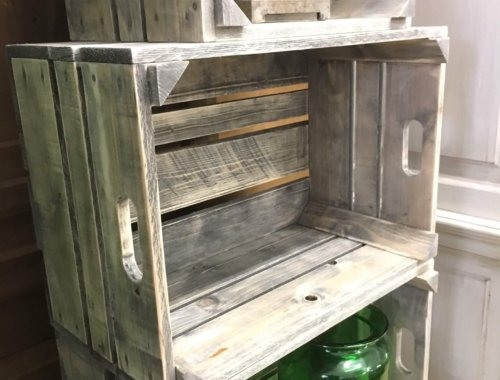 crate bushel boxes reclaimed wood vintage