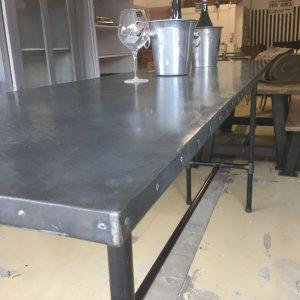 Industrial Metal Top Table
