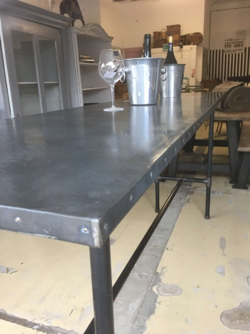 Industrial Metal Top Table