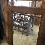 mirror, rustic, reclaimed, industrial wooden frames rustic
