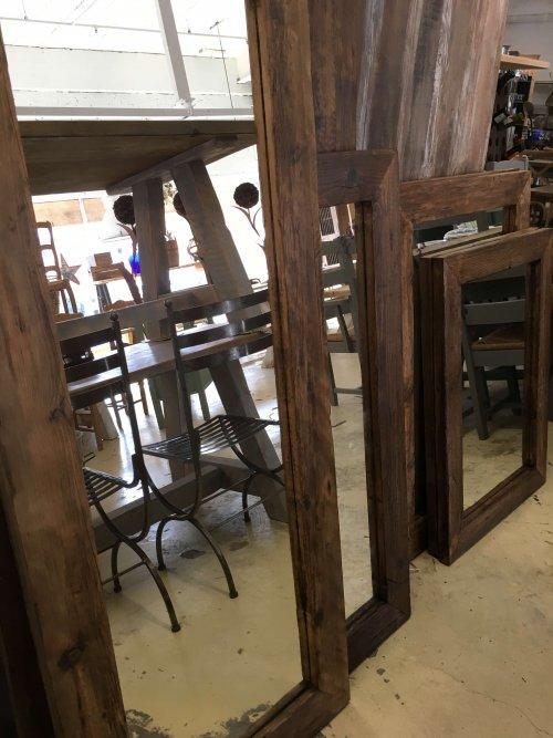 mirror mirrors vintage industrial rustic reclaimed wood frames