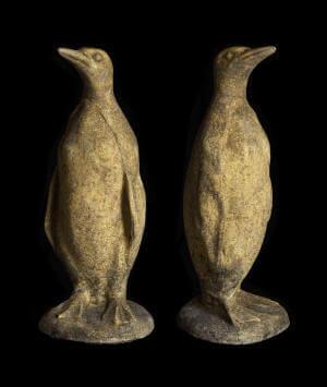 stone statuary garden vintage style penguin