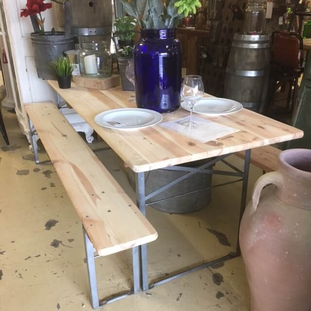 Groovy Table And Bench Set From 199 Ark Vintage Vintage Evergreenethics Interior Chair Design Evergreenethicsorg