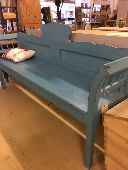 bench painted French furniture, vintage