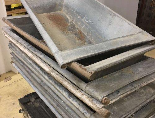 metal vintage galvanised planter trough bath industrial