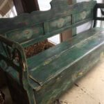 French painted bench. Original vintage.