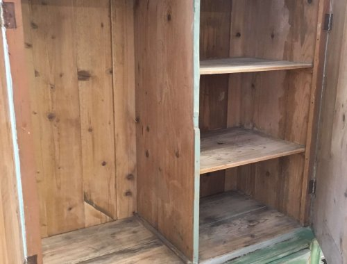 Vintage Painted pine unit